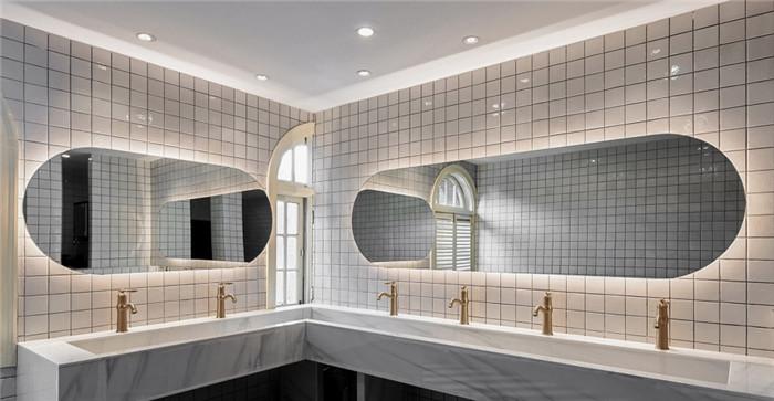 公共洗漱区设计-杭州ARTDECO复古风精品酒店改造设计方案