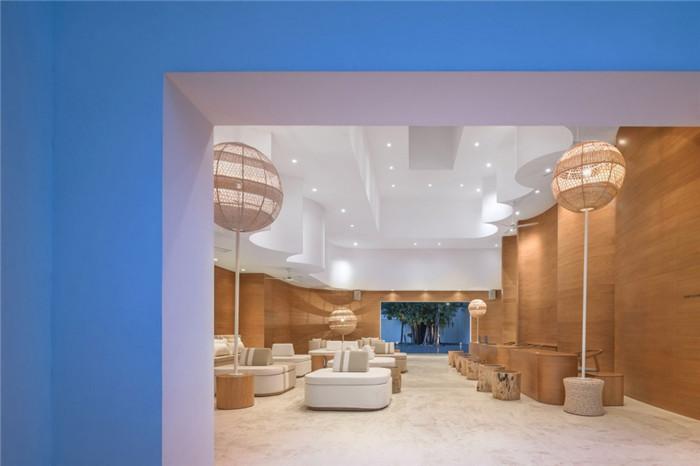 酒店接待大厅设计-别具特色的泰国现代风庭院式度假酒店设计方案