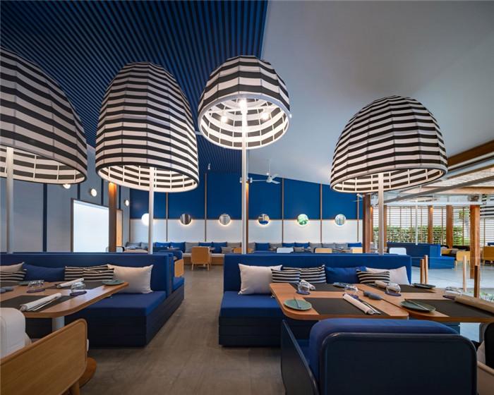 酒店餐厅设计-别具特色的泰国现代风庭院式度假酒店设计方案