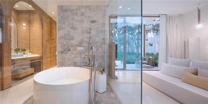 酒店客房设计-别具特色的泰国现代风庭院式度假酒店设计方案