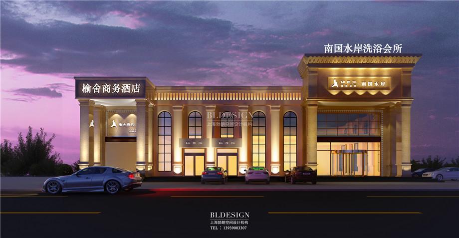 门头外观设计-香格里拉假日温泉度假酒店设计方案