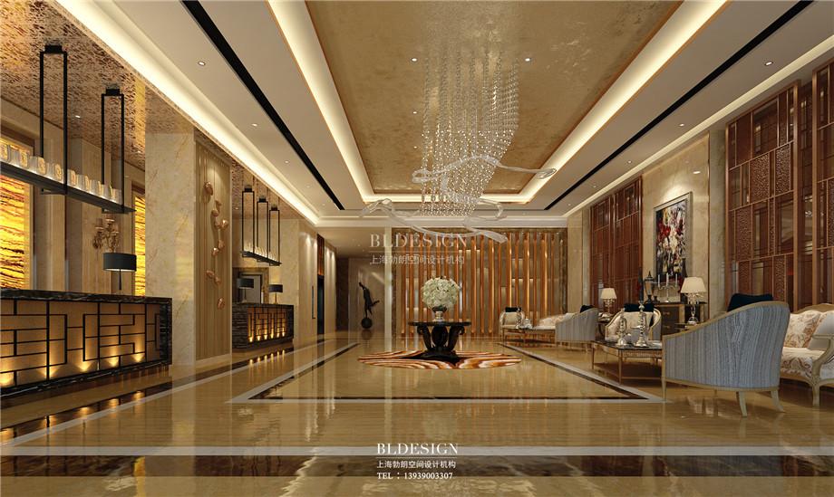 接待大厅设计-香格里拉假日温泉度假酒店设计方案