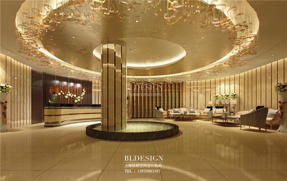 浴区接待大厅设计-郑州瑜舍温泉度假酒店设计效果图