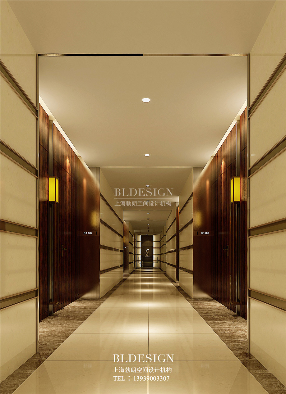 走廊设计-郑州瑜舍温泉度假酒店设计效果图