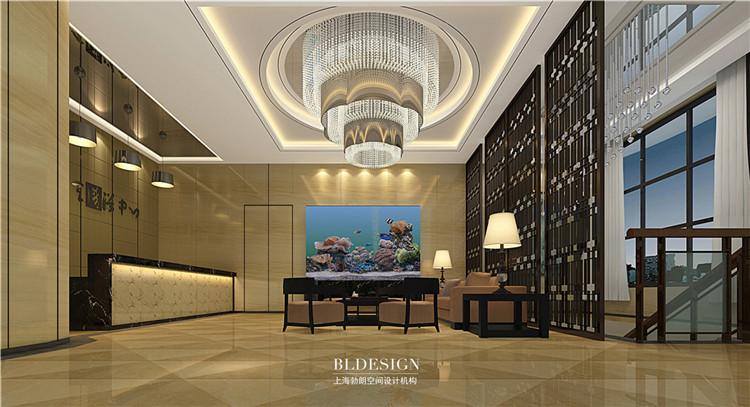 接待前厅设计-水浴海天温泉洗浴酒店设计效果图