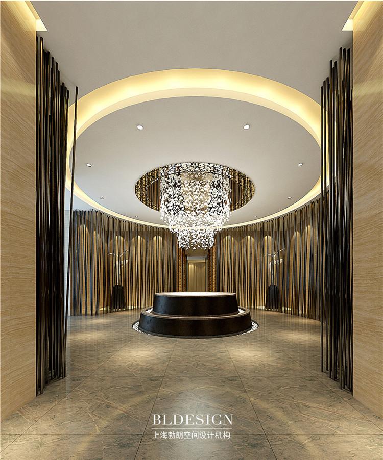 洗浴入口设计-水浴海天温泉洗浴酒店设计效果图
