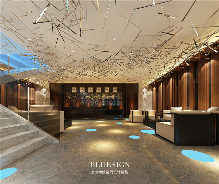 洗浴大厅设计-水浴海天温泉洗浴酒店设计效果图