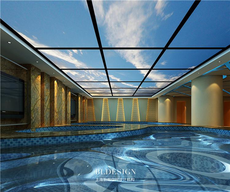 浴区设计-水浴海天温泉洗浴酒店设计效果图