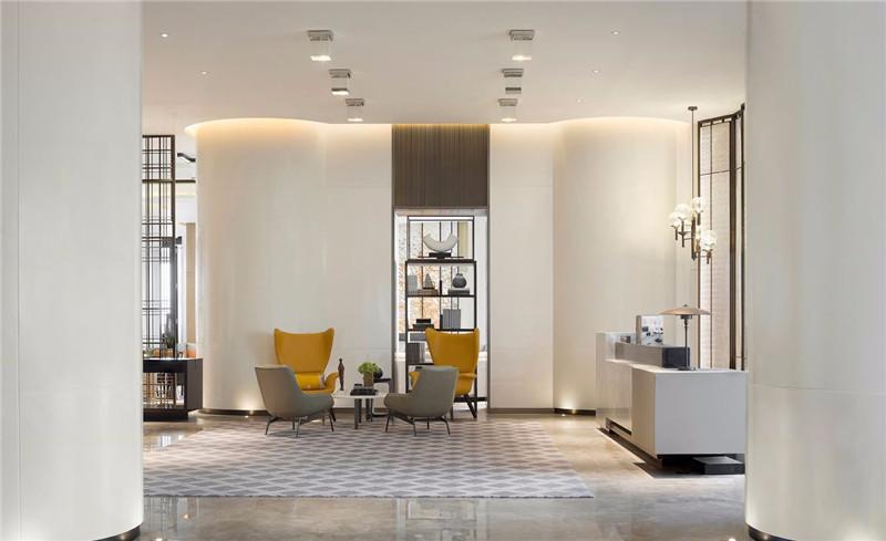 大堂休闲区设计-三亚现代中式洛克港湾五星级度假酒店设计案例