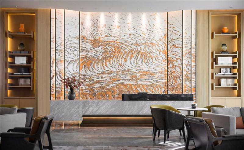 大堂设计-三亚现代中式洛克港湾五星级度假酒店设计案例