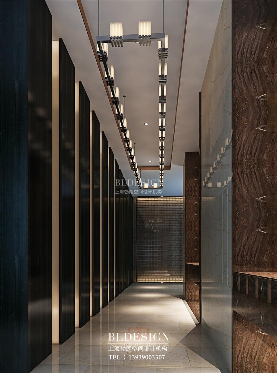 信阳沁园春公馆洗浴酒店走廊设计效果图