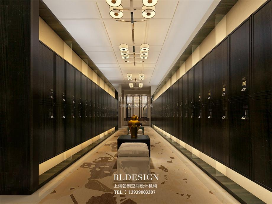 更衣室设计-信阳沁园春公馆洗浴酒店设计效果图