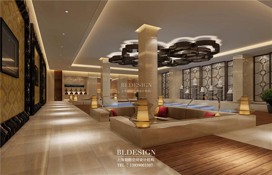 男浴区设计-信阳沁园春公馆洗浴酒店设计案例