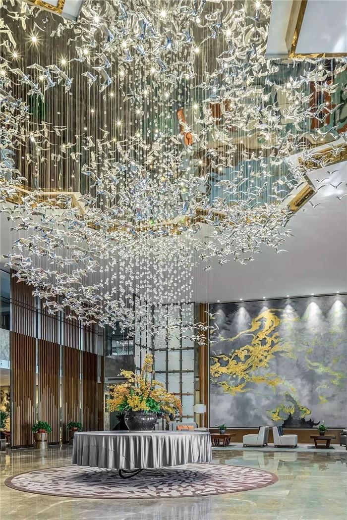 大堂设计-坐落于山水中的中式奢华度假酒店设计方案