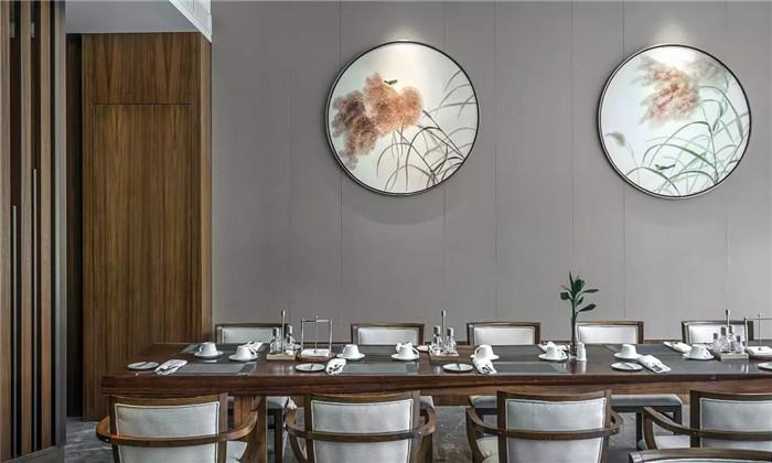 坐落于山水中的中式奢华度假酒店餐厅设计方案