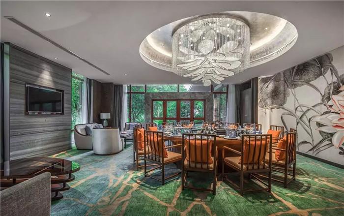 中餐厅包房设计-坐落于山水中的中式奢华度假酒店设计方案