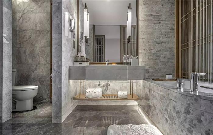 酒店卫生间设计-坐落于山水中的中式奢华度假酒店设计方案