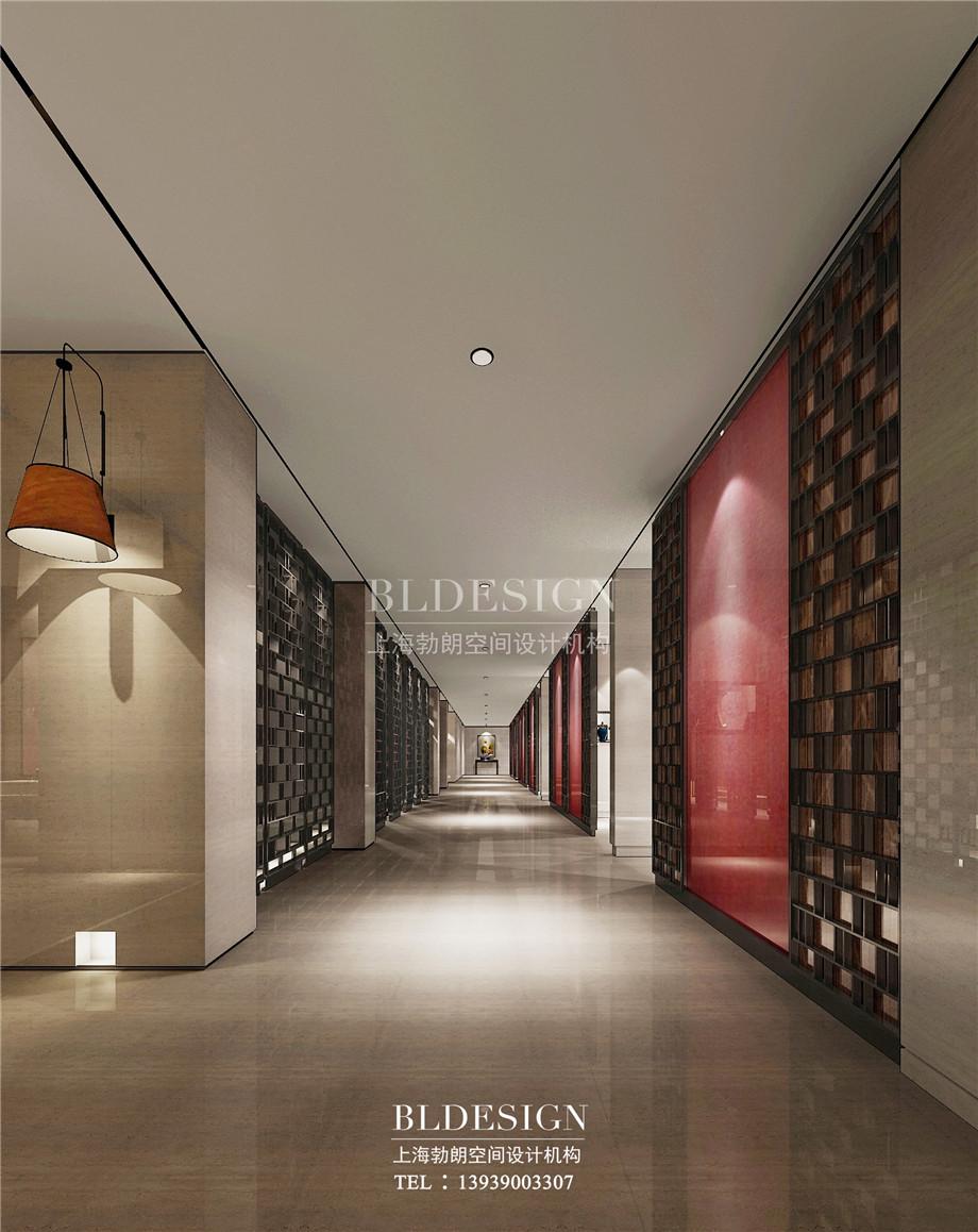 走廊设计-新乡中原健康温泉度假酒店设计案例