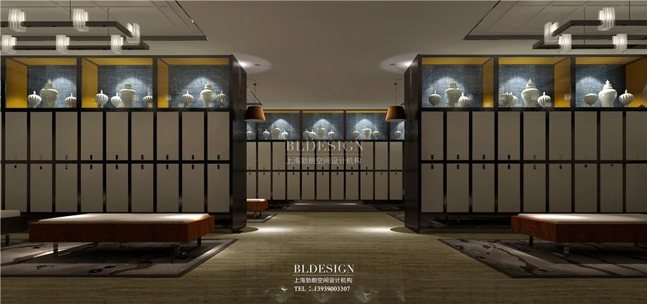 更衣区设计-新乡中原健康温泉度假酒店设计案例