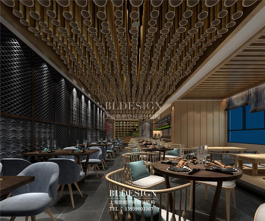 郑州澜亭汤泉汗蒸广场自助餐厅设计效果图