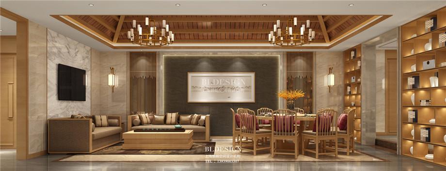 郑州澜亭汤泉汗蒸广场餐厅包房设计效果图