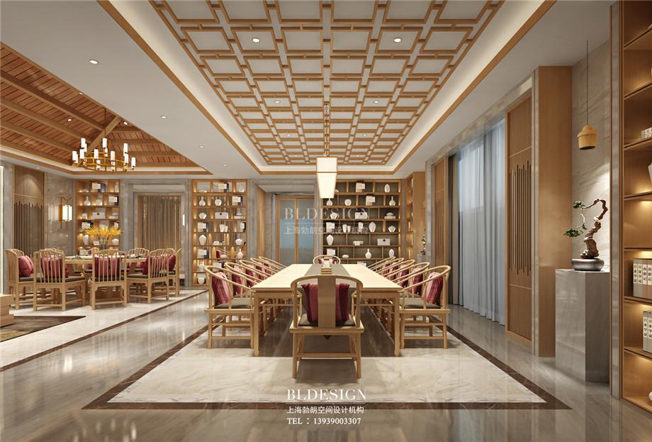 郑州百乐汤沐浴汗蒸馆餐厅设计方案效果图