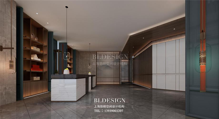 新乡五星级酒店设计-桃李春风大酒店大堂接待台设计方案