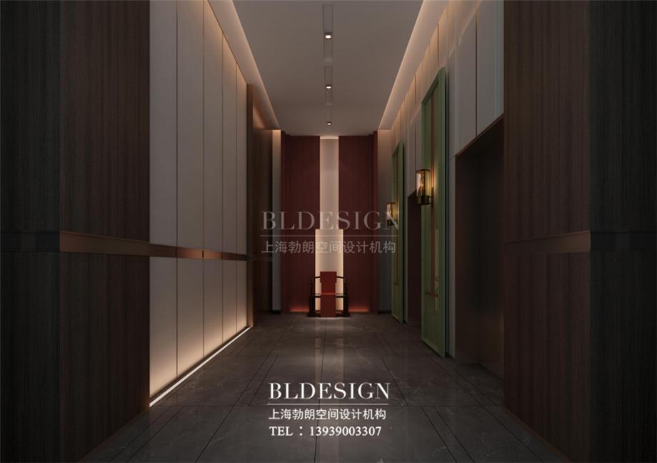 新乡五星级酒店设计-桃李春风大酒店电梯厅设计案例