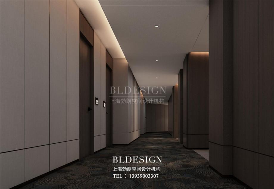 新乡五星级酒店设计-桃李春风大酒店客房走廊设计案例效果图