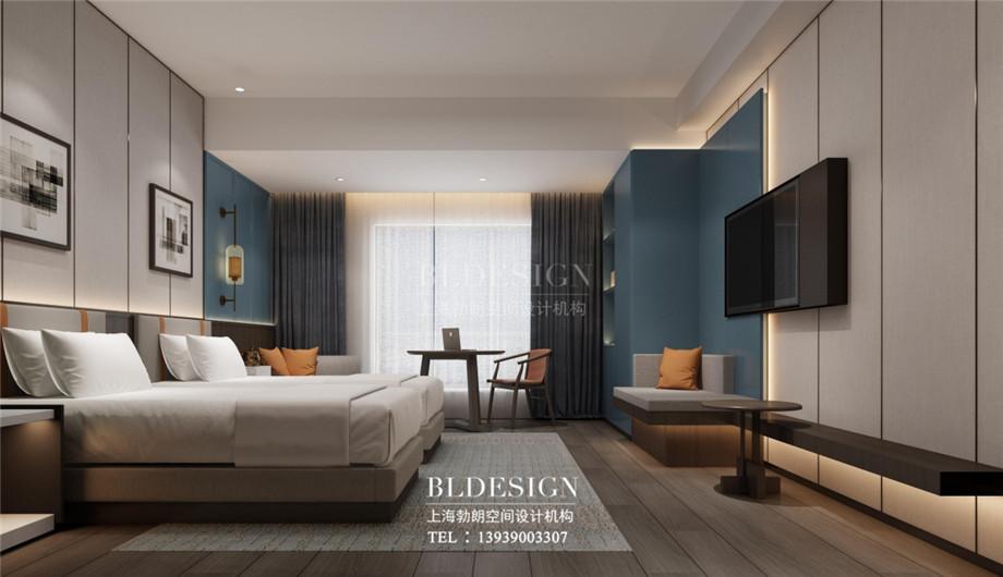 新乡五星级酒店设计-桃李春风大酒店标准间设计案例效果图