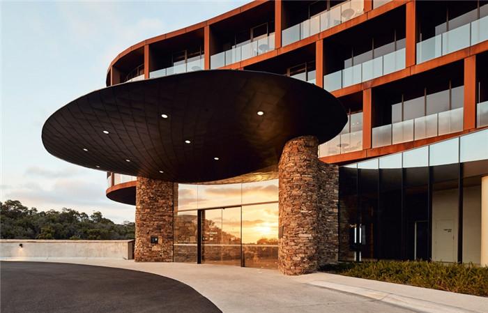 酒店入口设计-国外特色度假酒店设计  RACV度假酒店设计方案