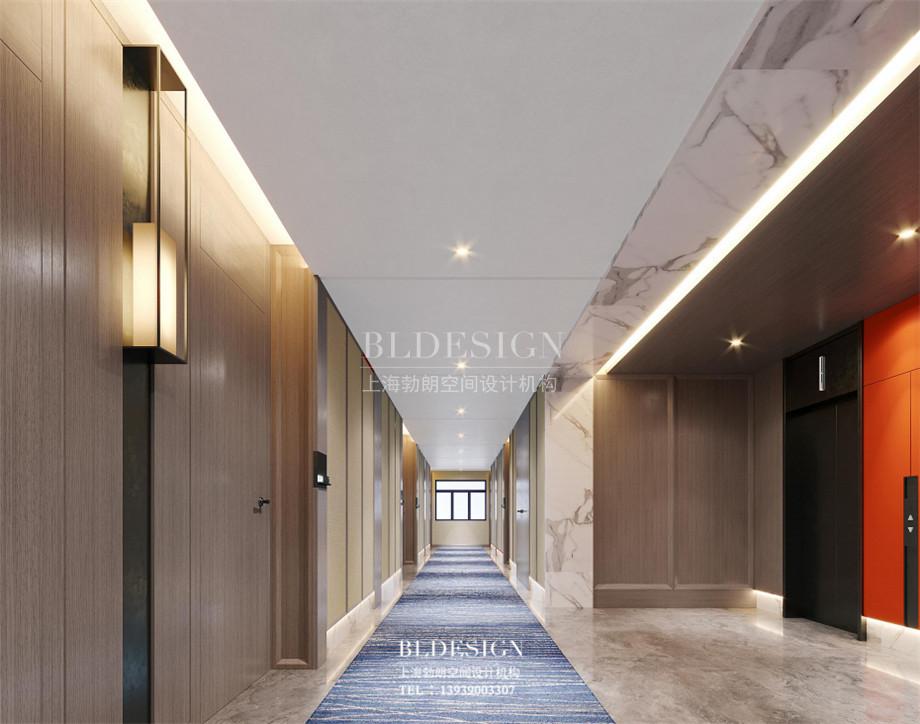 云南酒店设计-云南月伴湾精品酒店客房走廊设计方案