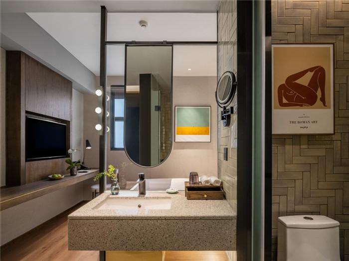 客房卫生间设计-老建筑改造酒店   海派风情精品酒店改造设计方案