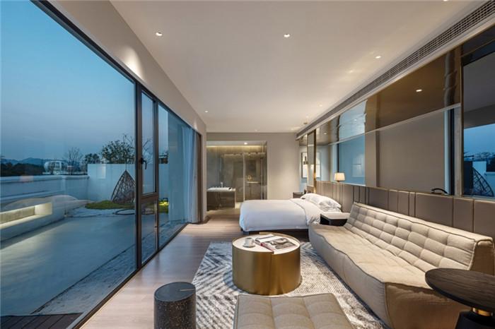 酒店客房设计-极简美学   陌领融郡精品民宿酒店设计案例