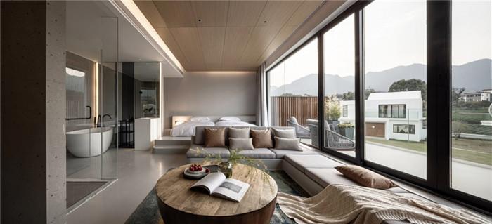 客房设计-极简美学   陌领融郡精品民宿酒店设计案例