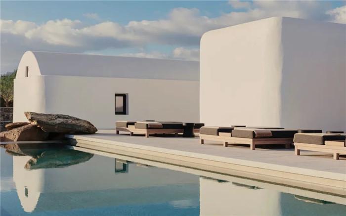 泳池设计-静谧古朴的国外侘寂风度假酒店设计方案