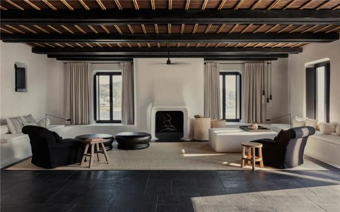 客房设计-静谧古朴的国外侘寂风度假酒店设计方案