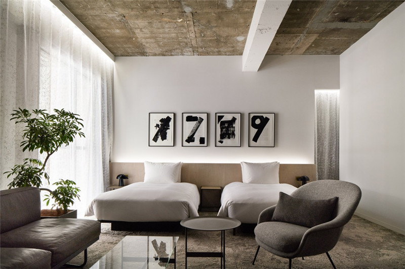 酒店客房设计-以绿色环保工业风为主题的精品酒店改造设计方案