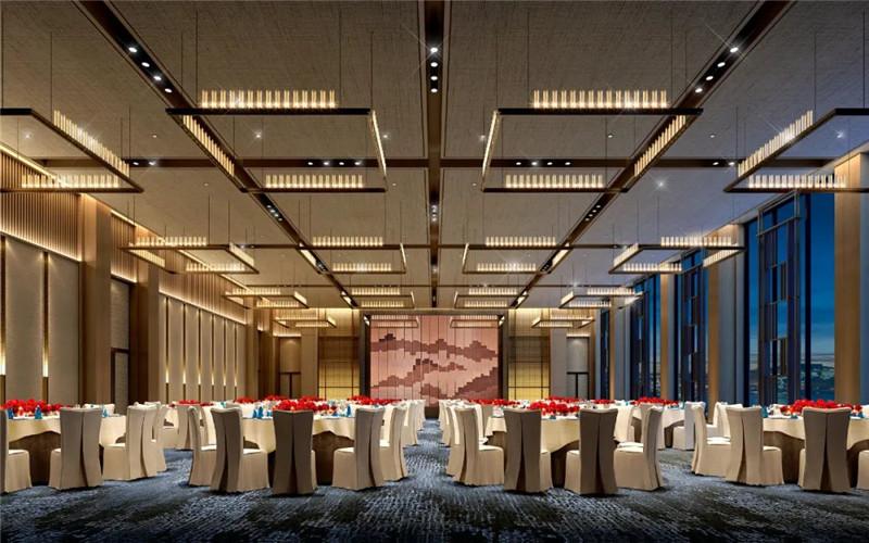 酒店宴会厅设计-现代与传统相融合的新中式温泉度假酒店设计案例