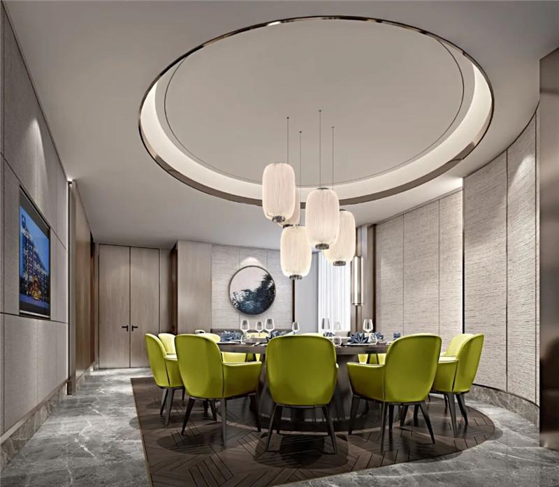 酒店餐厅包房设计-现代与传统相融合的新中式温泉度假酒店设计案例