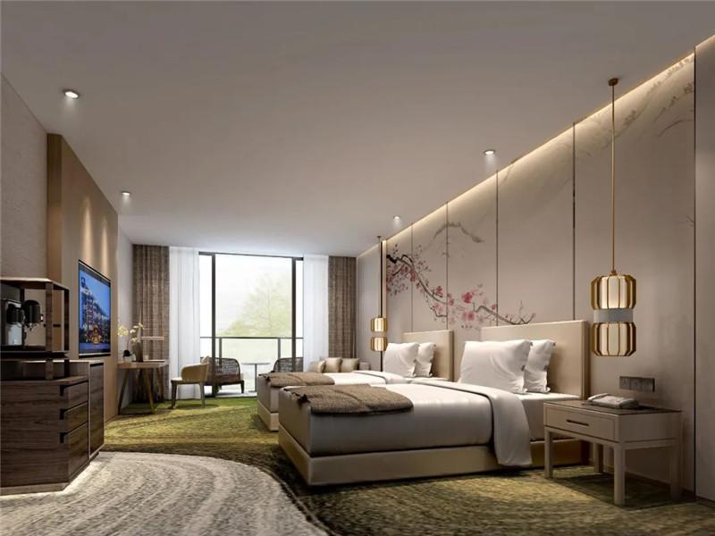 酒店标准间设计-现代与传统相融合的新中式温泉度假酒店设计案例