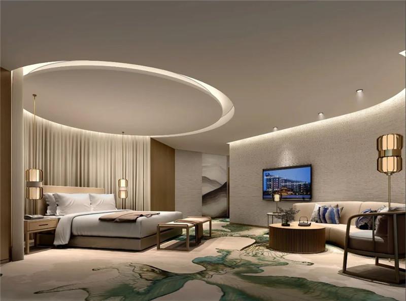 酒店客房设计-现代与传统相融合的新中式温泉度假酒店设计案例