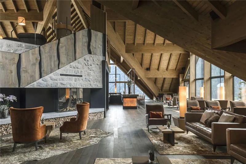 酒店大厅设计-当代奢华风Lefay Resort&SPA Dolomiti设计赏析