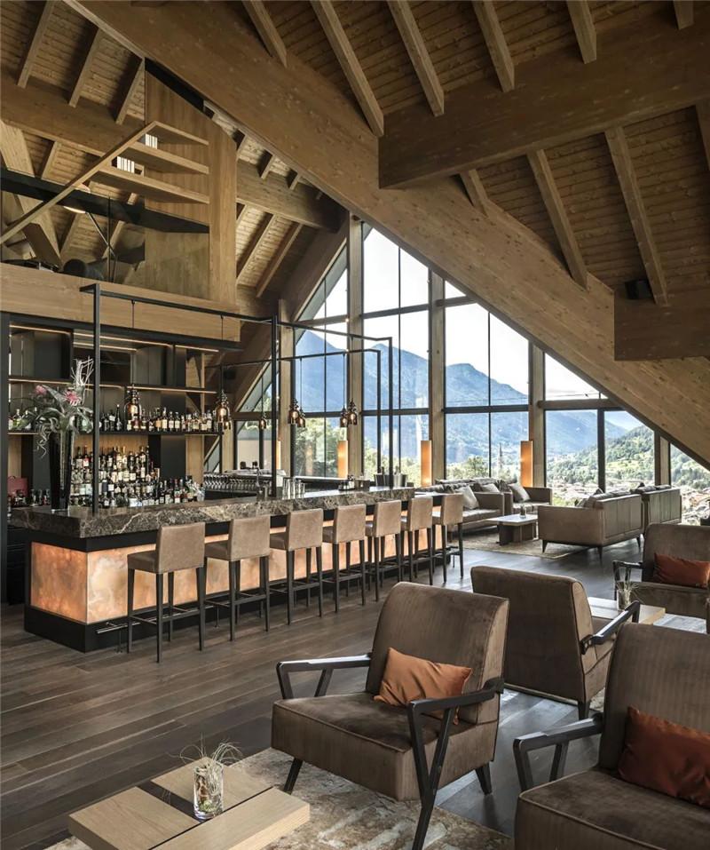 酒店餐厅酒吧设计-当代奢华风Lefay Resort&SPA Dolomiti设计赏析