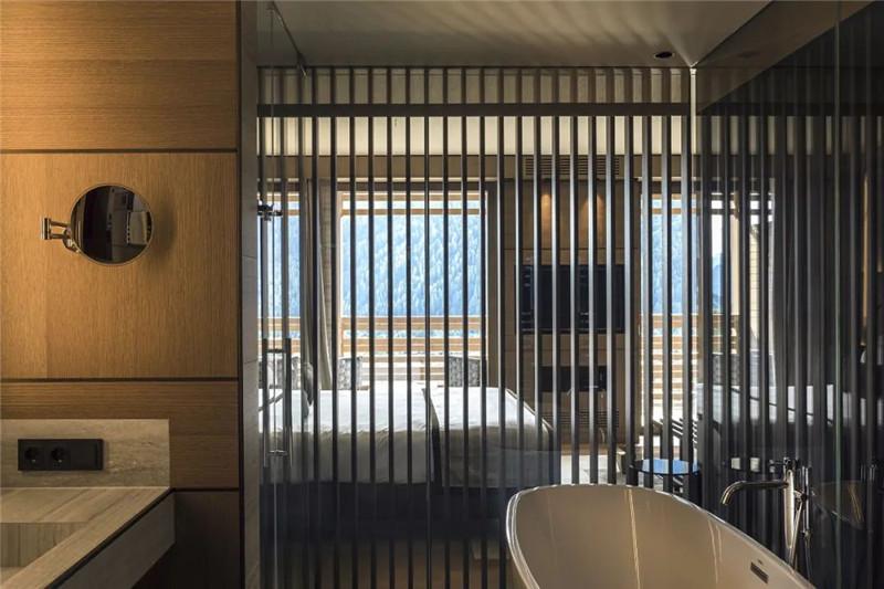 客房卫生间设计-当代奢华风Lefay Resort&SPA Dolomiti设计赏析