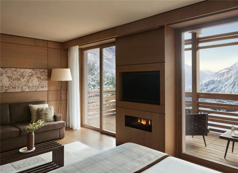 酒店客房设计-当代奢华风Lefay Resort&SPA Dolomiti设计赏析