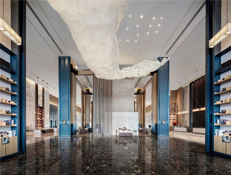大堂设计-现代新中式岳阳铂尔曼五星级酒店设计赏析