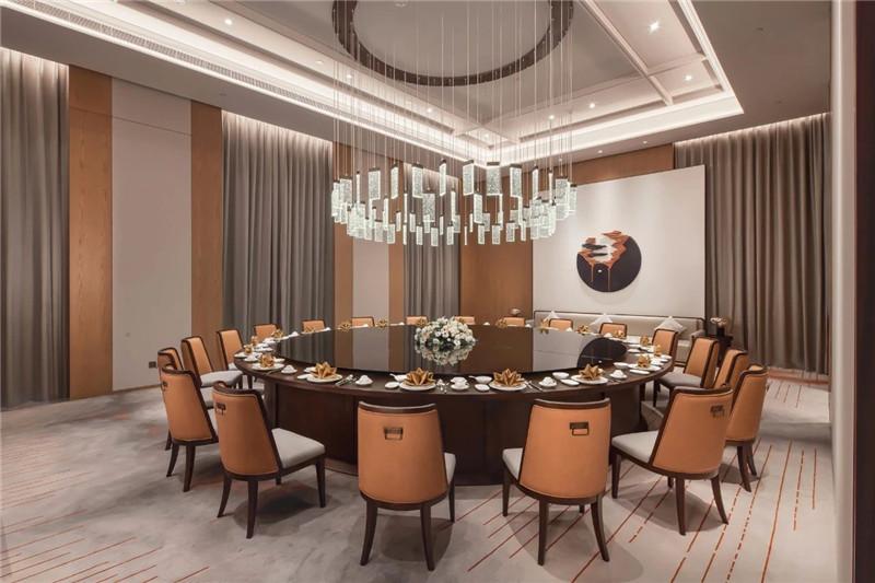 中餐厅包房设计-现代新中式岳阳铂尔曼五星级酒店设计赏析