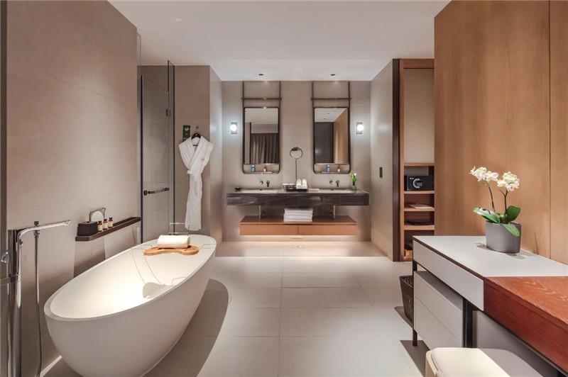 客房卫生间设计-现代新中式岳阳铂尔曼五星级酒店设计赏析