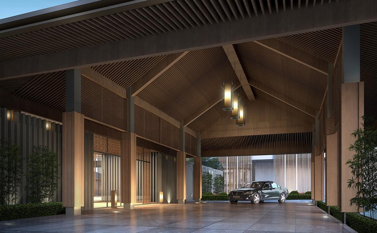 上海松江广富林希尔顿酒店设计
